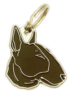 BULL TERRIER BRINDLE - pet ID tag, dog ID tags, pet tags, personalized pet tags MjavHov - engraved pet tags online